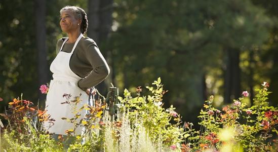 Image of Women standing in a field of wild flowers